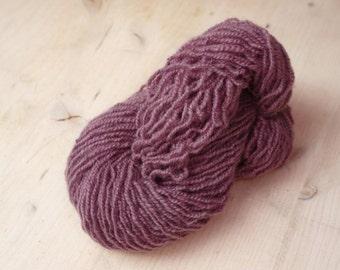 Organic wool yarn, sheep wool yarn, dark purple wool yarn, Scandinavian Fabric