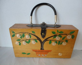 Vintage Gary Gail of Dallas Wooden Box Purse