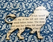 Chronicles of Narnia, The Lion The Witch and the Wardrobe, Aslan, Book Lover, Literature, Book Brooch, Book Pin, Reading Pin, Book Jewelry