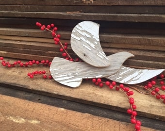 Dove Tree Topper- Christmas Decoration Dove Tree Topper made from reclaimed wood