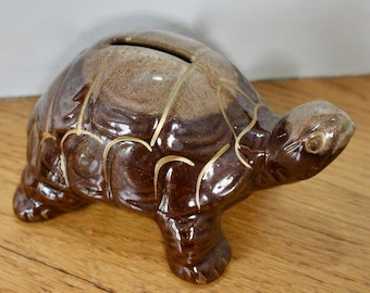 Ceramic Red Ware Turtle Bank/ Made in Japan