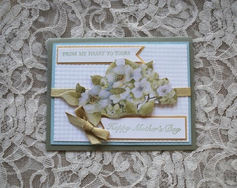 Handmade Greeting Card, OOAK, Mother's Day card, Happy Mother's Day