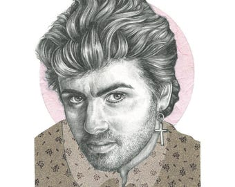 George Michael Limited Edition A4 Print
