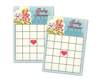 Printable baby shower bingo cards / nursery rhyme /Mary Had a Little Lamb / baby shower game / instant download / party game