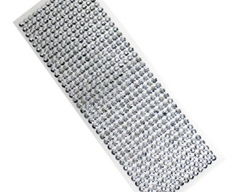 144- 6mm clear round sticky rhinestones