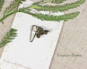paperclip coach bronze vintage style paper clip bookmark