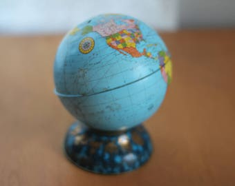 Vintage Globe Bank by Nine Star Vintage