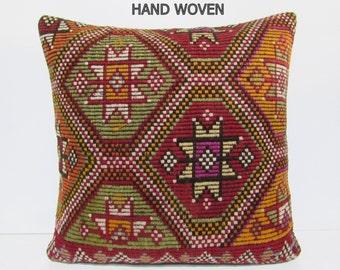 throw pillow sofa 24x24 indigo pillow cover 60x60 floor cushion cover floor pillow colorful throw pillow kilim pillow set kilim pillow A856