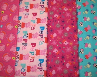 Peppa Pig Cotton Fabric by Springs Creative! [Choose Your Cut Size]