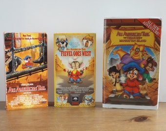 Childrens vhs dvd Movies An American Tail Fievel Goes West The Treasure of Manhattan Island U PICK 1