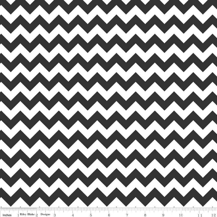 Black and White Small Chevron Fabric - Riley Blake Designs. Black ...