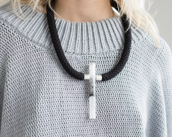 Bib Necklace, Simple Necklace, Minimalist Necklace, Rope Necklace, Statement Necklace, Boho Necklace, Bohemian Necklace, Tribal Necklace,
