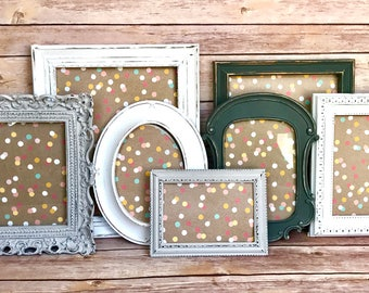 Cottage Home Decor, Farmhouse Chic, Picture Frame Set, Farmhouse Decor, Rustic Wedding Ideas, Wedding Table Decor, Frame Collage