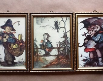 Vintage Framed Hummel Prints