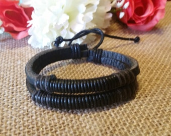Men's leather Bracelet, Leather Bracelet, Men's Jewerly