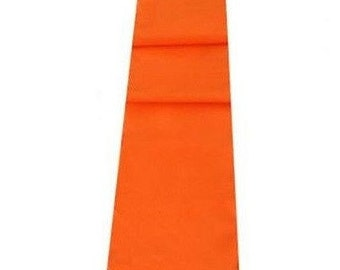 Orange Table Runner Linen Cotton Feel / Poly Mix