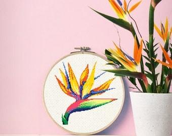 Bird of Paradise - Downloadable Cross Stitch Pattern
