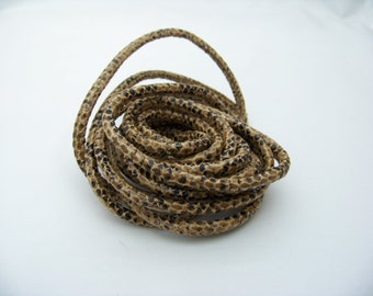 Faux Golden Snakeskin 5-6mm cord 4800