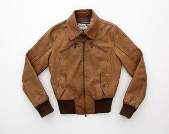 Vintage jacket // Vera Pelle Women's Leather Bomber Jacket