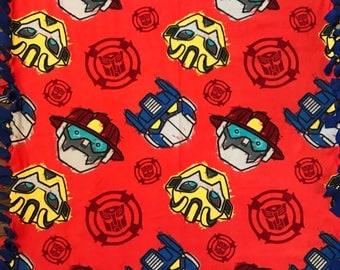 Transformers Rescue Bots Fleece Tie Blanket