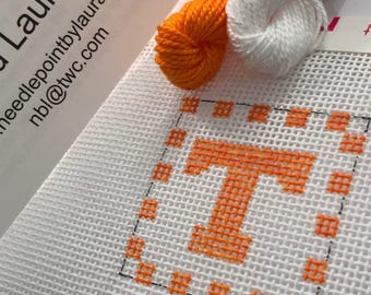 University Of Tennessee Needlepoint Key Fob Canvas- 1.5 Square