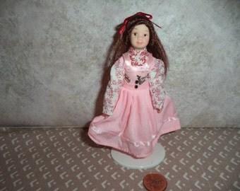 1:12 scale Dollhouse Miniature Girl doll