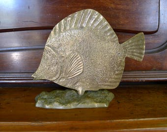 Solid brass fish statue