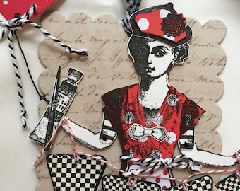 Paper Doll, Articulated, Art Tag, Character Constructions Stamps, Ornament, Art Stamps, Mixed Media
