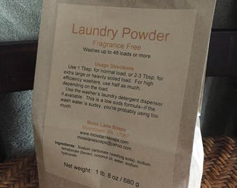 Laundry Powder, Unscented, 24 oz (1 lb, 8 oz) / 680 g, 48 loads