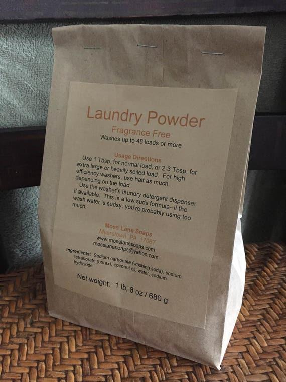Laundry Powder, Unscented, 24 oz (1 lb, 8 oz) / 680 g, 48 loads