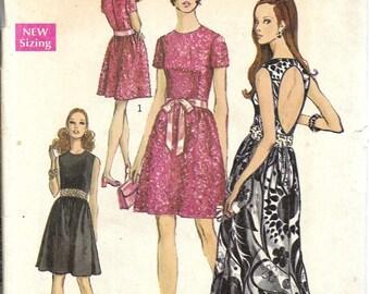 Vintage 1969 Simplicity Pattern 8545 BARE BACK DRESS Miss Size 12