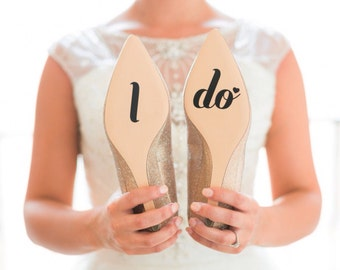 I Do Sticker - Wedding Shoe Decal - Vinyl Decal