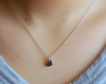 161) Dainty Cute Heart Charm Necklace