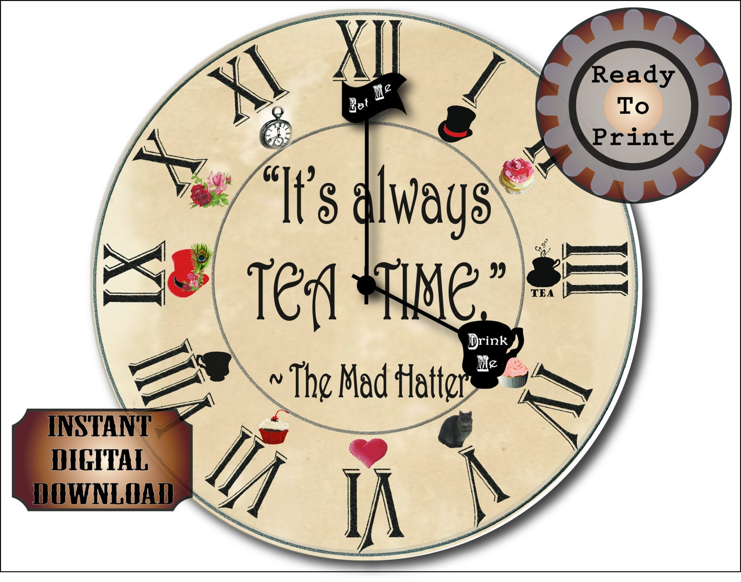 Mad Hatter Tea Party Invitation Template Free with amazing invitations design