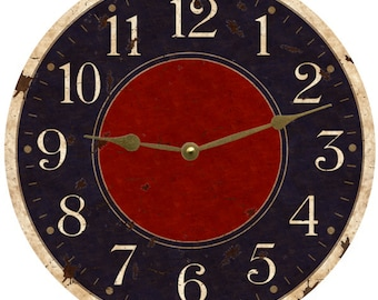 Rustic Wall Clock Navy Blue