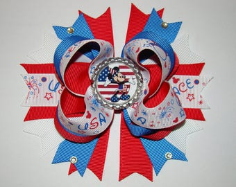 4th of July hair bow ON SALE NOW!