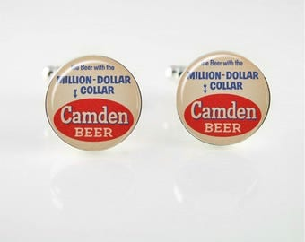 Vintage Camden Beer Cuff Links or Tie Clip