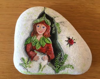 Forest sprite on Wharfedale river stone.