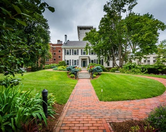 The Walter Lippmann House, in Cambridge, Massachusetts. | Photo Print, Stretched Canvas, or Metal Print.