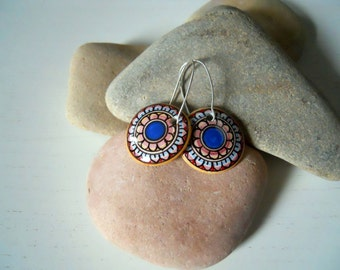 Ceramic Jewelry/Handcrafted/earrings hand-painted/hand painted Earrings