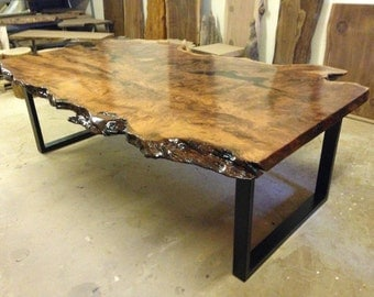 Live Edge Dining Table   Redwood Dining Table   Wood Slab Dining Table    Live Edge