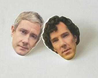 Sherlock & Watson Earrings - Sherlock Holmes