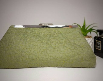 Green wedding clutch handbag, wedding clutch,green clutch, green handbag, weeding handbag, green handbag, green purse, wedding purse, clutch