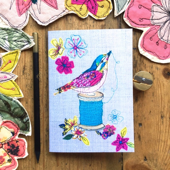 Pocket notebook- Thread & Bird