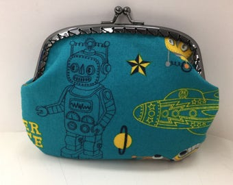 Rocket Ships and Robots Coin Purse