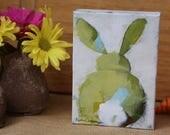 5x7 Green Bunny #2