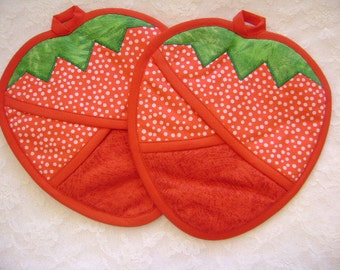 Strawberry Hot Pads, Strawberry Oven Mitts, Strawberry Kitchen