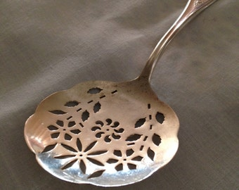 1847 Rogers Bros. SX Triple Old Colony Silverplate Tomato Serving Spoon