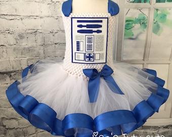 R2D2 tutu, R2D2 tutu dress, R2D2 tutu costume, R2D2 costume, R2D2 comic con, Star Wars tutu, Star Wars wedding, Star Wars costume,
