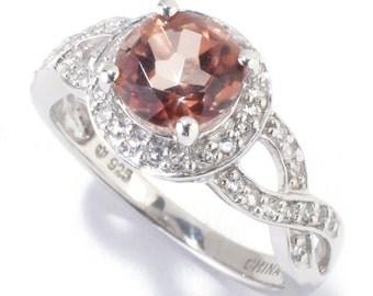 Sterling Silver 2.02ctw Chocolate Topaz Solitaire w/ accent Ring SZ 6,7